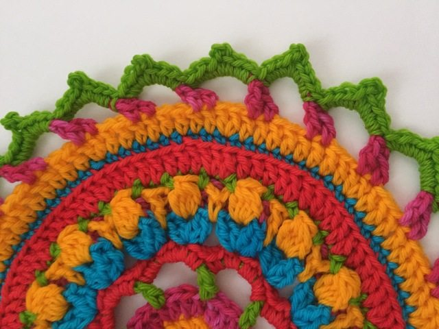 annie colorful crochet mandala