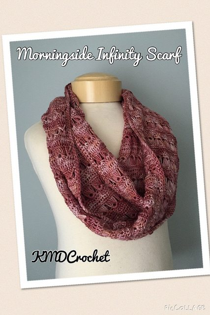 broomstick lace crochet infinity scarf pattern
