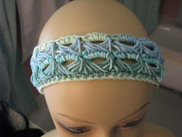 broomstick lace headband crochet pattern