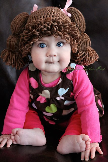 cabbage patch crochet wig