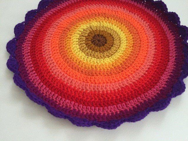 cait crochet rainbow mandala