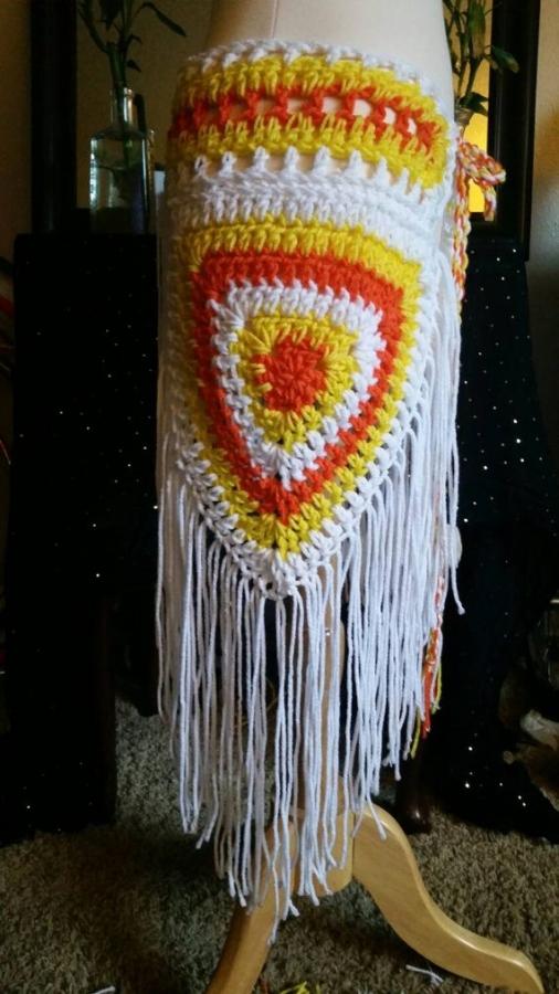 candy corn crochet festival skirt