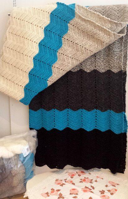 chevron gehaakte deken gratis patroon