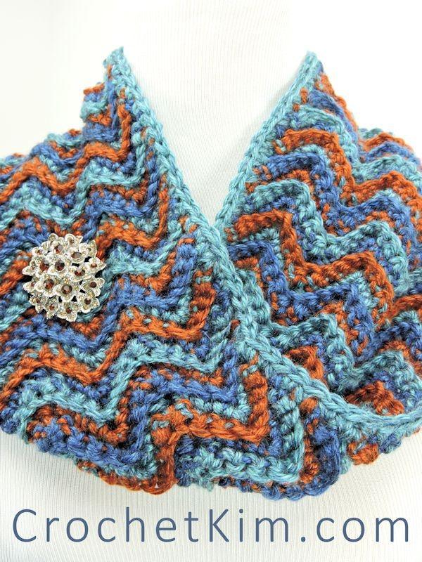 chevron haak kap vrij verband met crochetkim