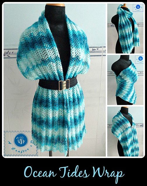 chevron crochet wrap pattern