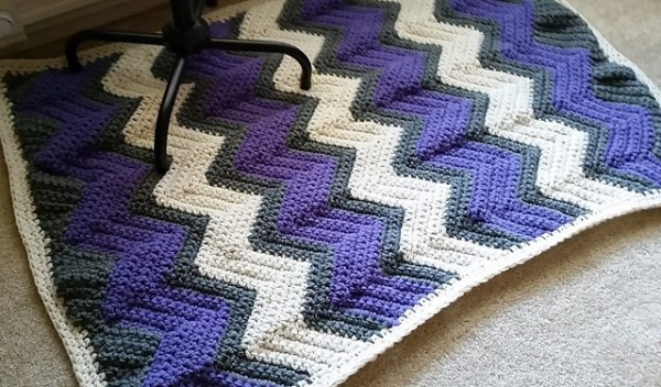chevron rug free crochet pattern