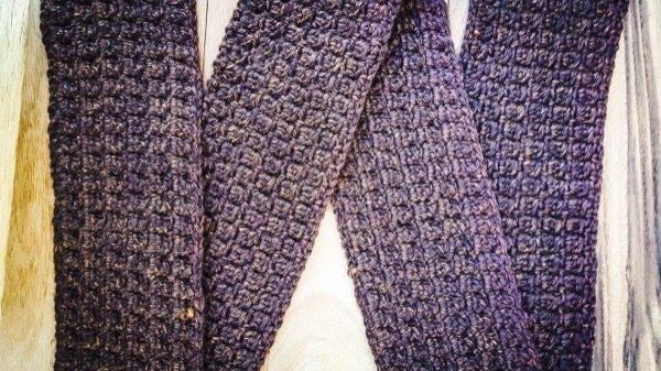 cluster rows scarf crochet pattern