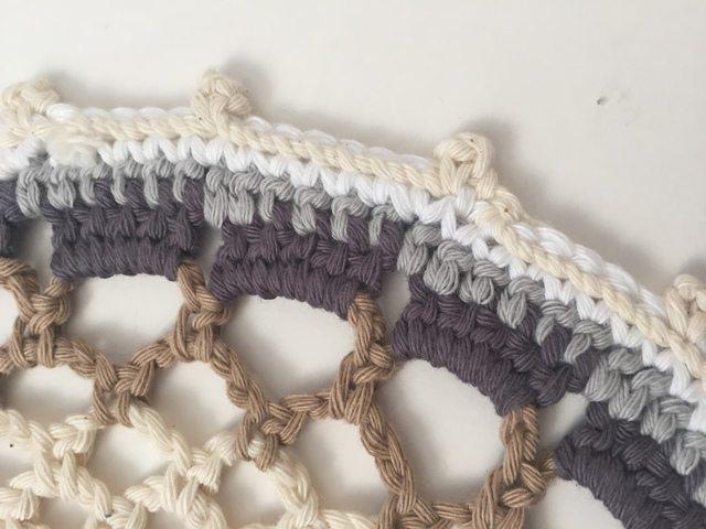 cotton crochet mandala by treble stitch