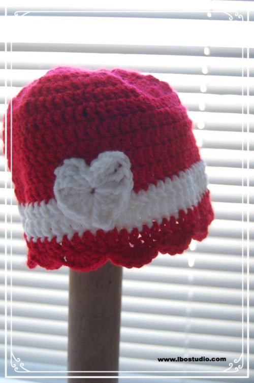 Haak baby hoed gratis patroon