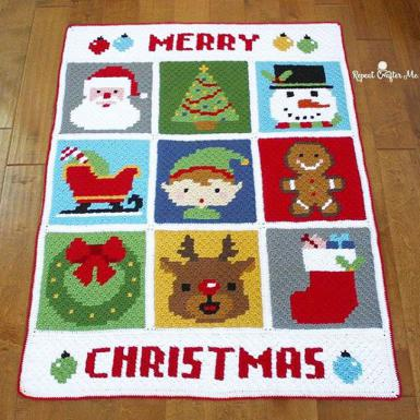 crochet-christmas-blanket-pattern