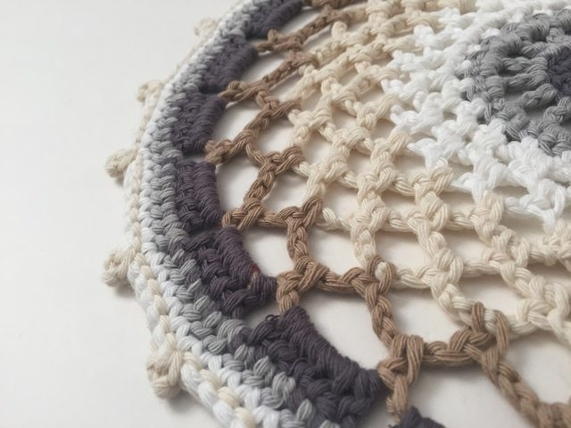 crochet mandala by treble stitch for wink