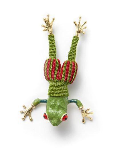 crochet tree frog by felieke van der leest