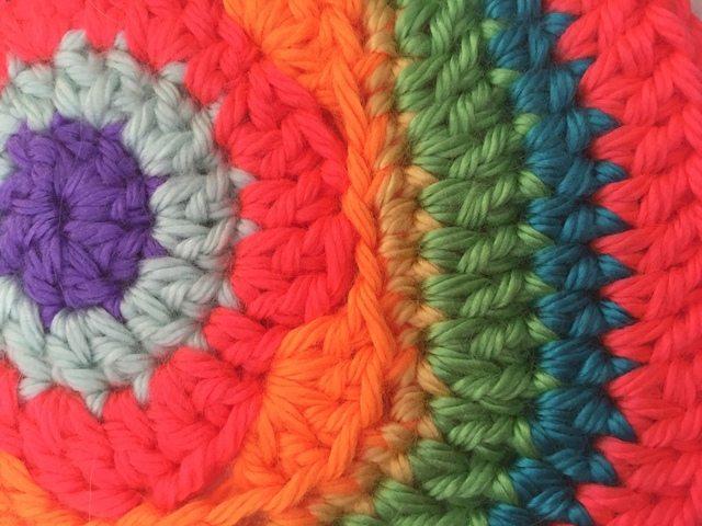 detail of crochet mandala by lani