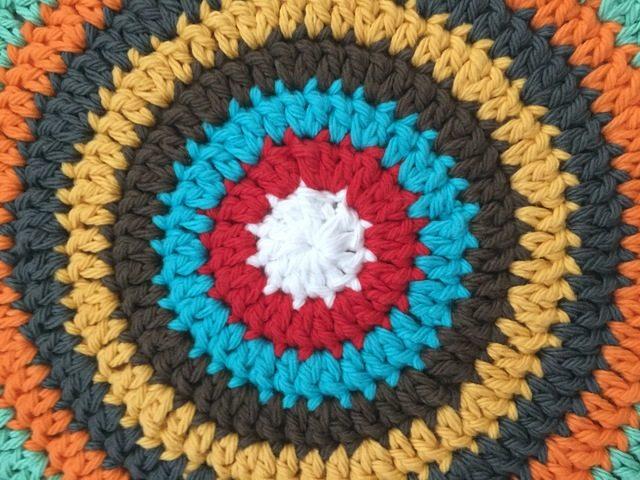 detail of divina crochet mandala