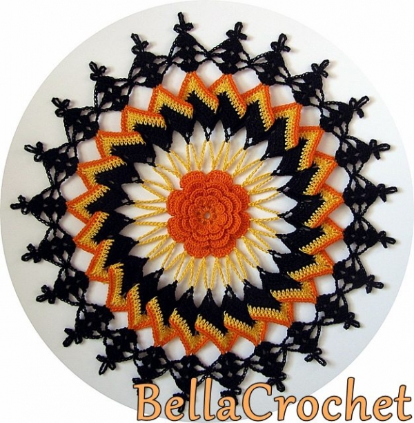 halloween doily free crochet pattern