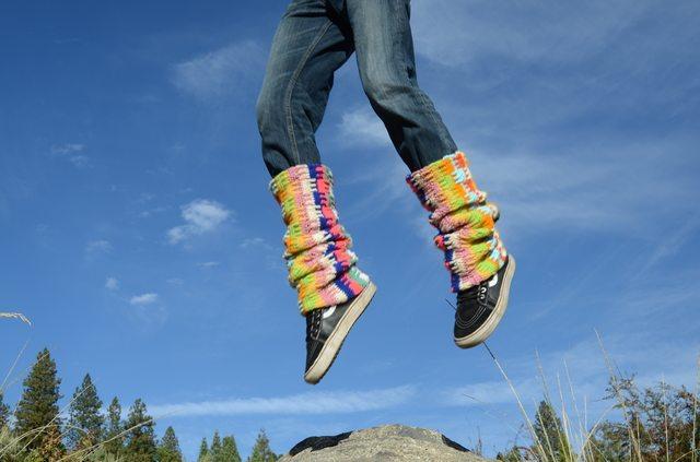 lordvonschmitt crochet legwarmers jumping