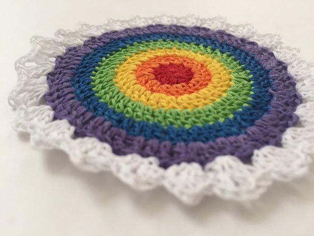 pamelas rainbow crochet mandala for marinke