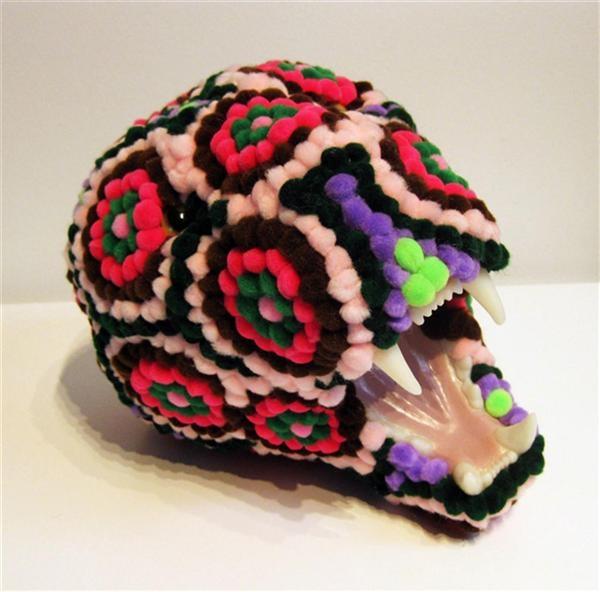 pomdermy art skull