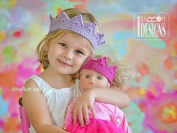 princess crown halloween crochet pattern