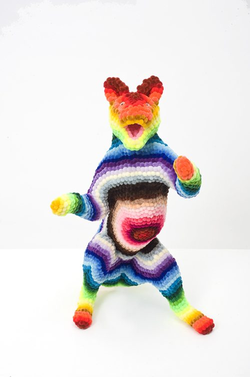 rainbow crochet pomdermy troy emery