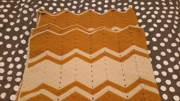 retro chevron crochet blanket pattern