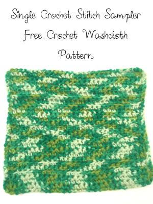 single crochet washcloth free pattern