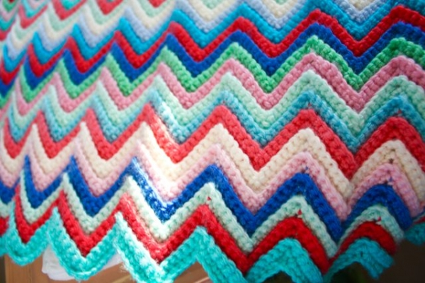 skinny ripple chevron crochet tutorial by little woolie