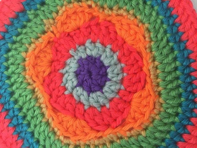 small crochet mandala by lani