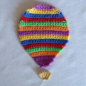 striped hot air balloon free crochet pattern