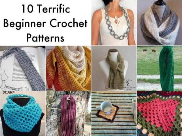 ten beginner crochet patterns
