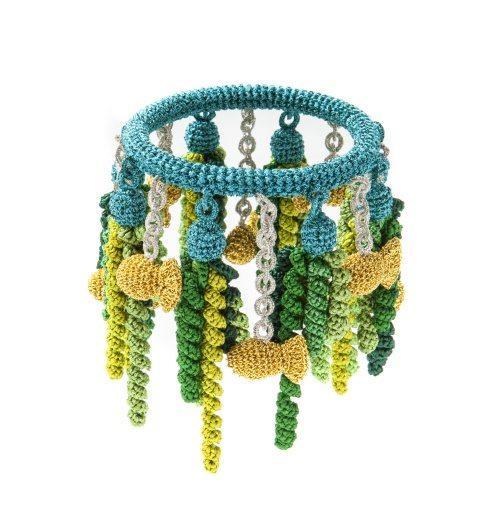 underwater crochet bracelet by felieke van der leest