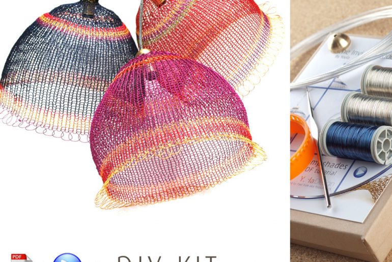 How To Make A Wire Crochet Lampshade By Yoola Design Crochet