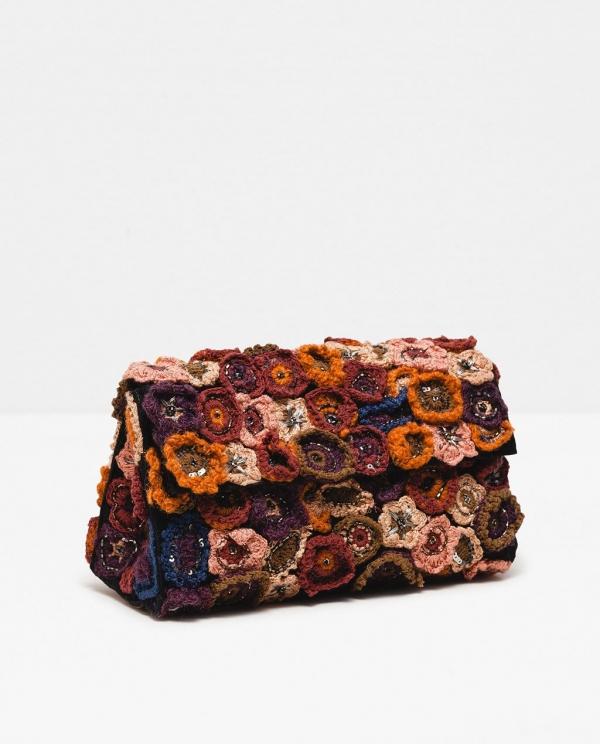 zara crochet flower purse