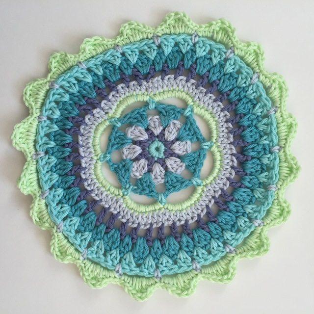 Carolyn Christmas Neon Crochet Mandala