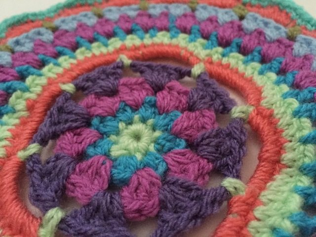 anfloclay crochet mandala