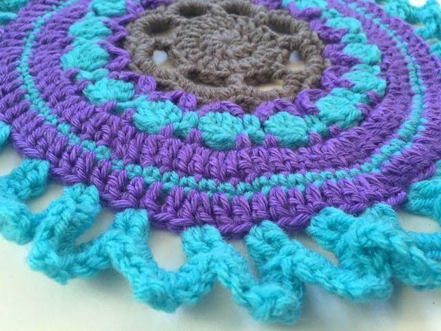 blue crochet mandala by acacia