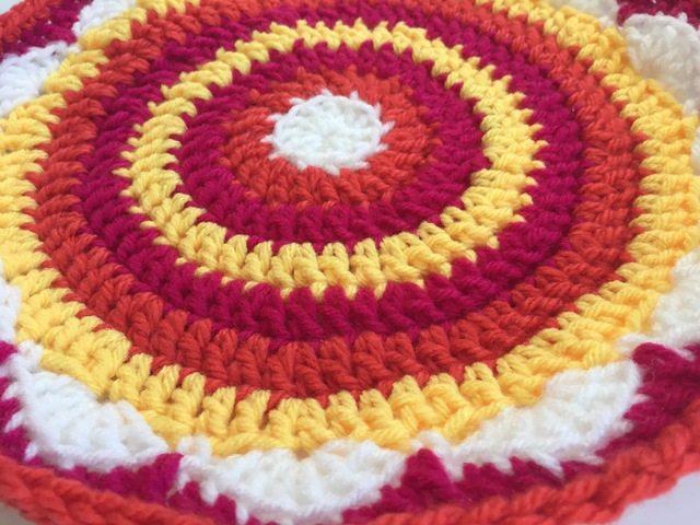 brendas crochet mandalas for marinke - sunny