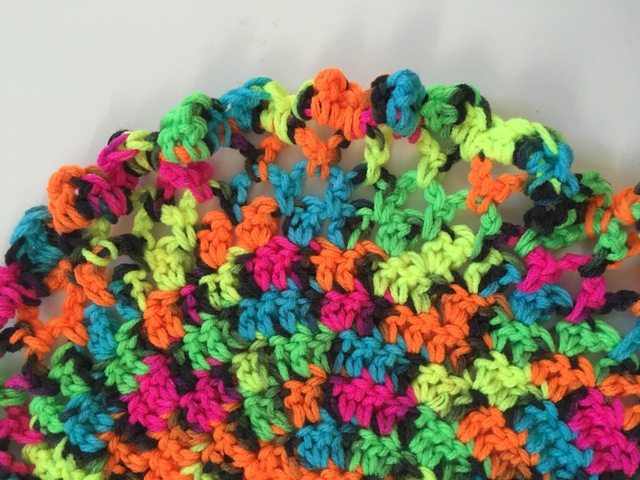 brendas neon crochet mandala for marinke