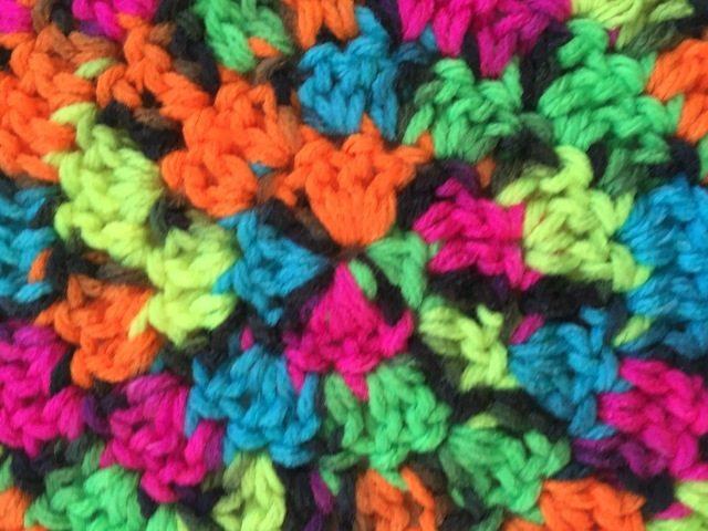 brendas neon crochet mandala