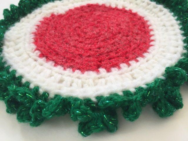 christmas crochet mandala by marcia