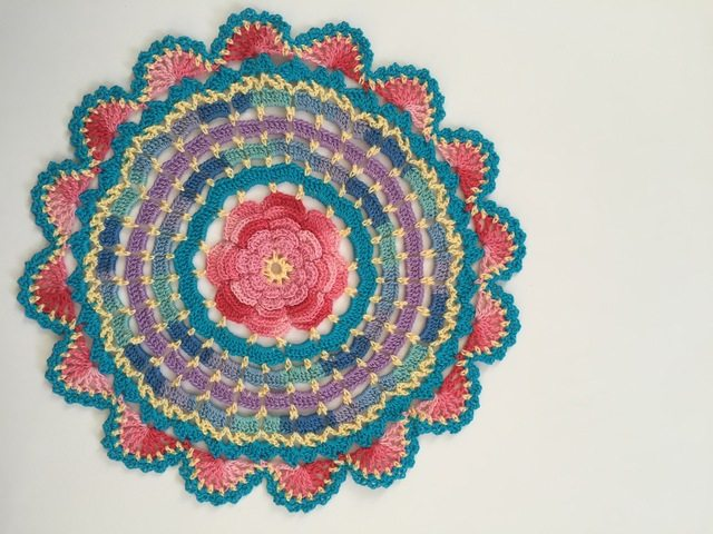 colorful flower mandala by dianna