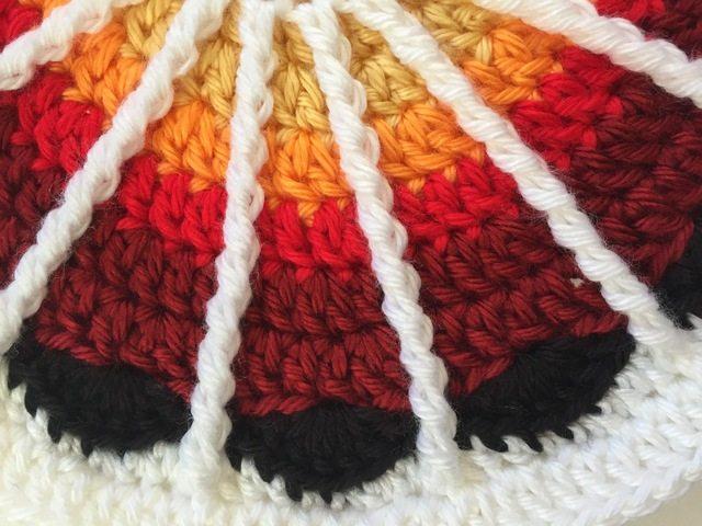 connie spoke crochet mandala for wink