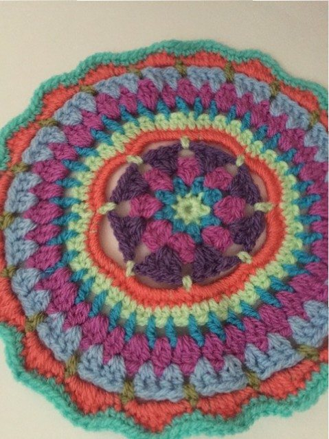 crochet mandala by anfloclay uk