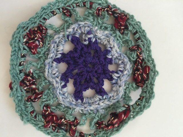 crochet mandala by marcia