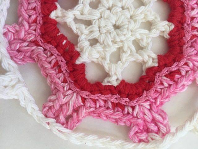 crochet mandala detail by marcia