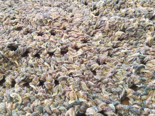 crochet mandala rug by susan laney