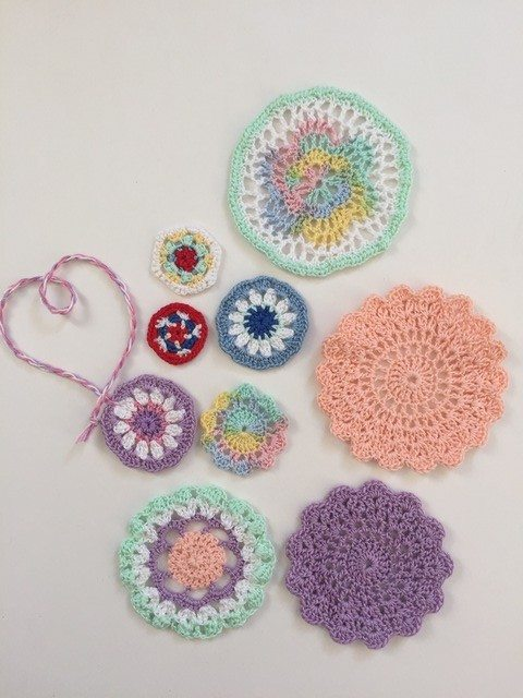 crochet mini mandalas by dianna