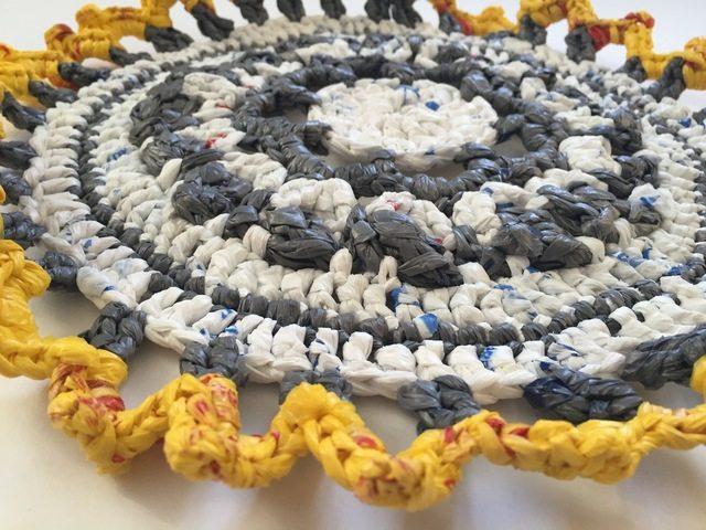 crochet plarn mandala by acacia