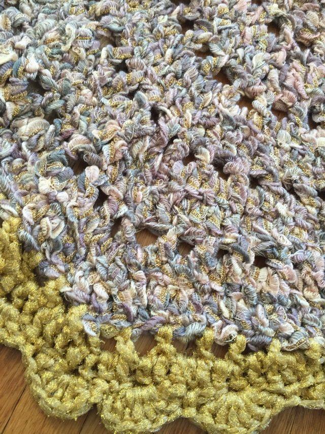 crochet rug detail by susan laney