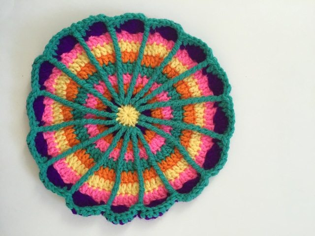crochet spoke mandala neon by acacia
